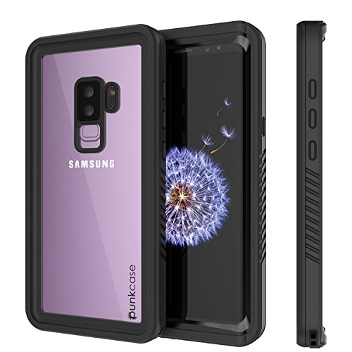 Galaxy S9 Plus Waterproof Case, Punkcase [Extreme Series] [Slim Fit] [IP68 Certified] [Shockproof] [Snowproof] [Dirproof] Armor Cover W/Built in Screen Protector for Samsung Galaxy S9+ [Black]