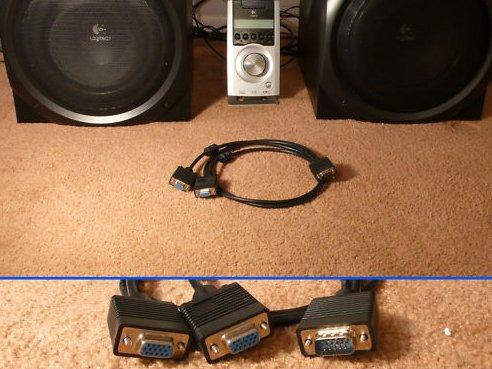 Logitech Z-5500Z5500Control Pod y cable divisor para doble sistema de subwoofer