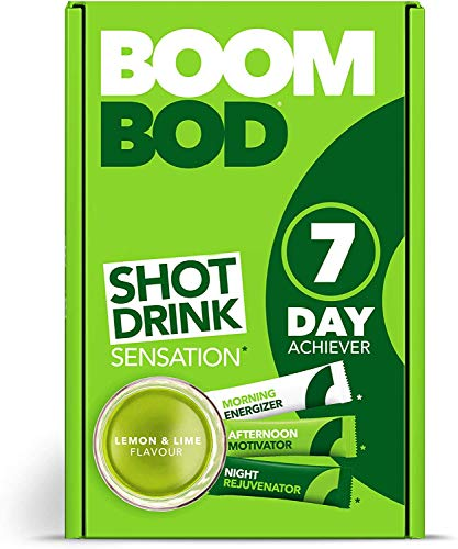 Boombod Weight Management Shot Drink, Glucomannan, High Potency, Diet and Exercise Enhancement, Keto and Vegan Friendly, Sugar and Aspartame Free, Gluten-Free - Lemon Lime Flavour…