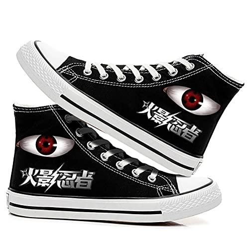 MAZF Zapatos de Lona Naruto High Gang Unisex Cosplay Zapatos Casuales De Zapatillas con Cordones-37