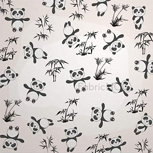 daoyiqi Juego de pegatinas decorativas para azulejos, pandas, 20,3 x 20,3 cm, vinilo resistente al agua, 12 unidades