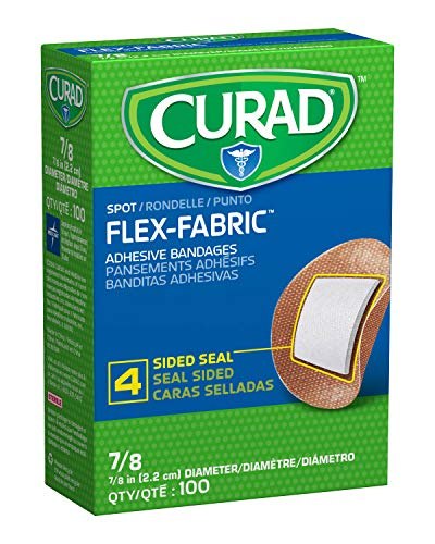 "Curad Flex Fabric Spot Adhesive Bandages, Bandage Dimension is 7/8"" (Box of 100)"