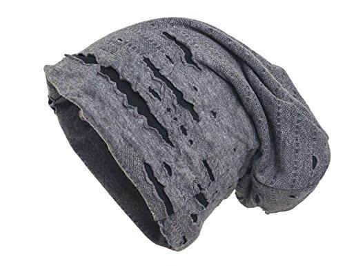 shenky Chemomützen Unisex dünne Mütze bei Haarausfall Haarverlust Chemotherapie Beanie (Distressed Grau)