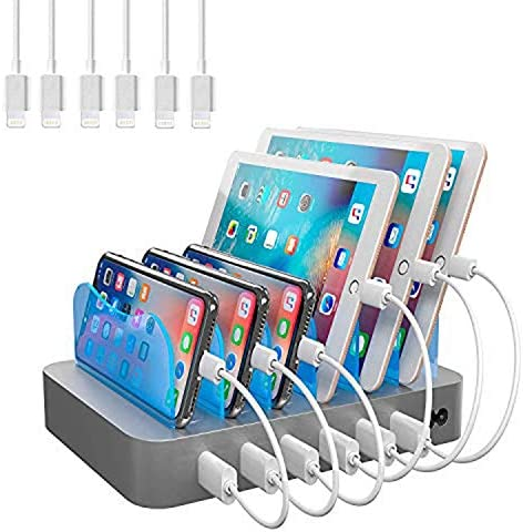 Hercules Tuff Charging Station for Multiple Devices with 6 USB Fast Ports and 6 Short USB Cables product image