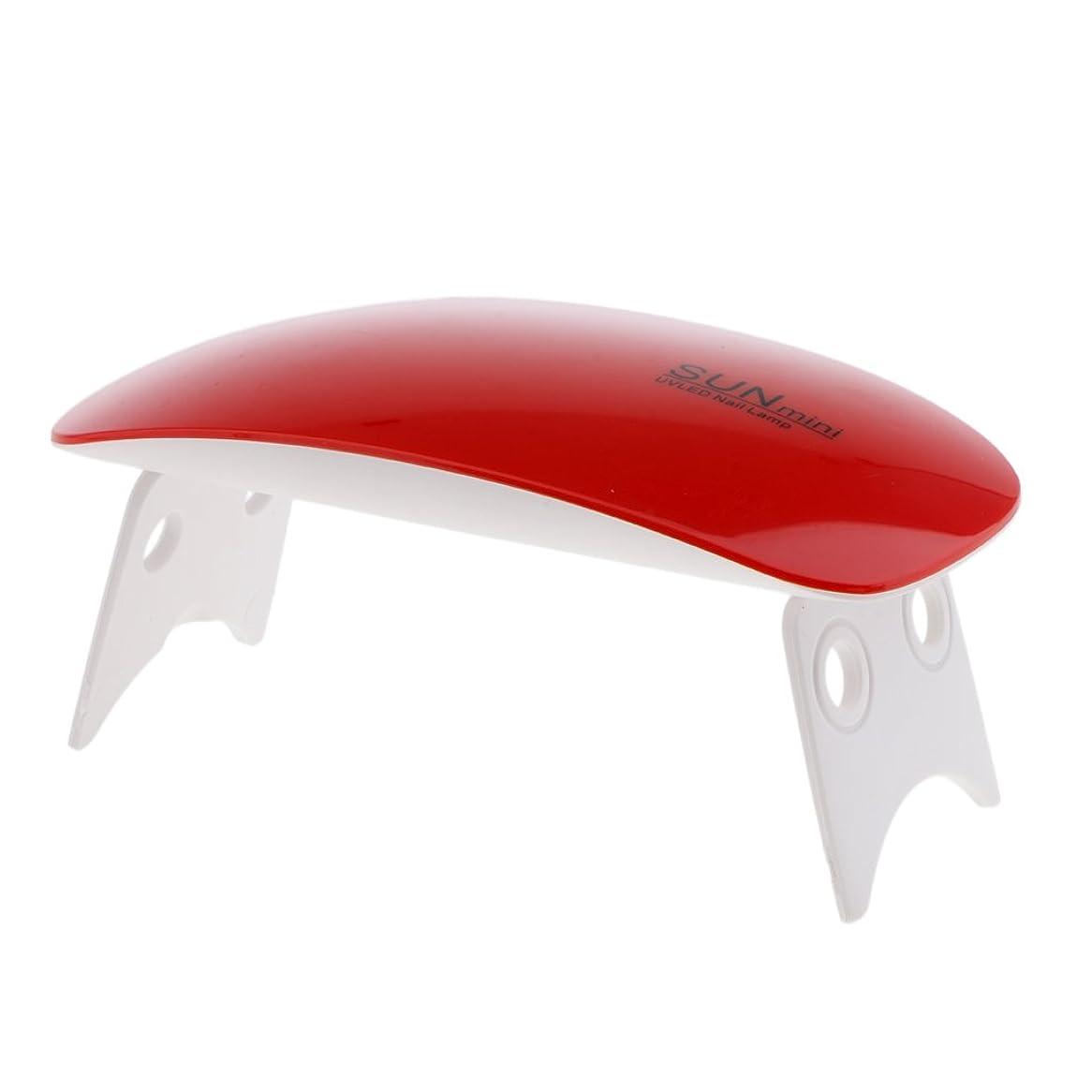 見積りキャッシュ立法Blesiya ネイルランプ ネイルドライヤーランプ ネイルアートマシン USB式 9W 2色選べる - ワインレッド