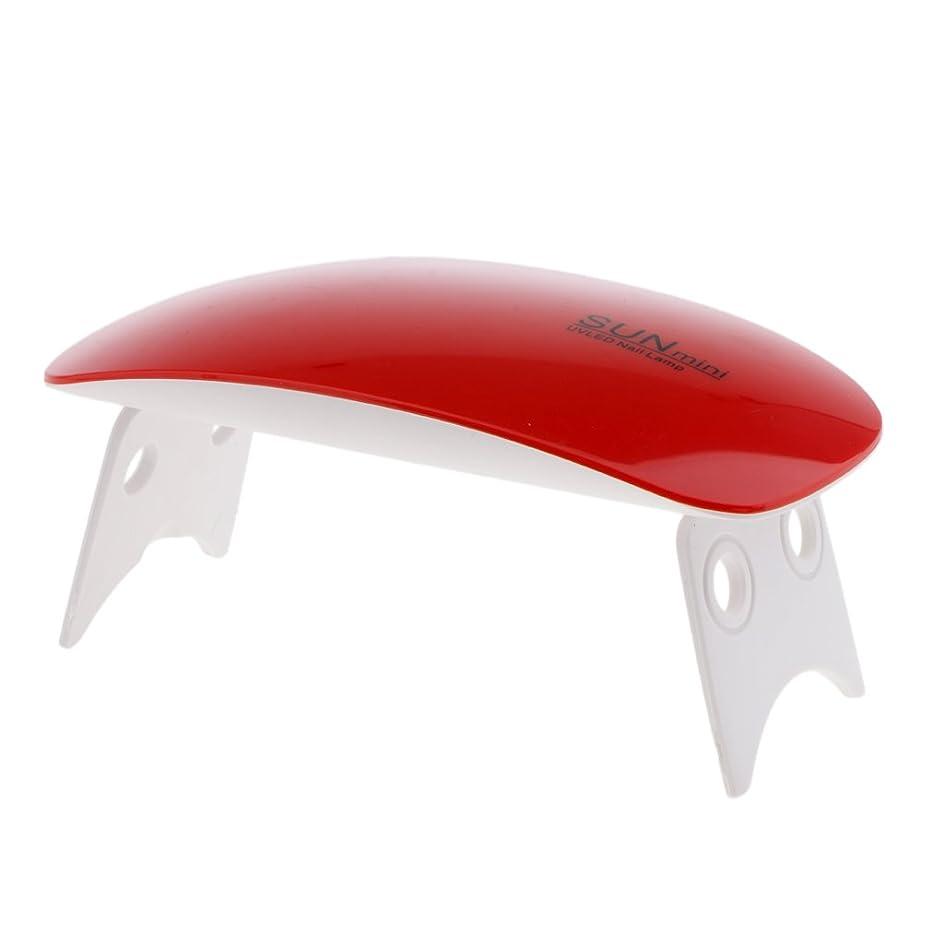ゴミ無効降伏Blesiya ネイルランプ ネイルドライヤーランプ ネイルアートマシン USB式 9W 2色選べる - ワインレッド