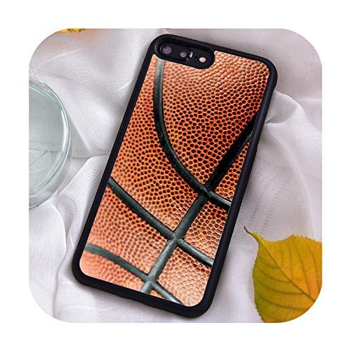 Funda de silicona TPU para iPhone 7 8 Plus X Xs 11 Pro Max XR 12 12mini 5 5S 6 6S Baloncesto Real Texture-CB3-640-para SamsungS10