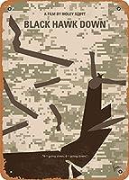 No1076 マイブラックホークダウン最小限の映画のポスターヴィンテージルック 8x12 インチメタルスズサインレトロ メタルプレートブリキ 看板 2枚セットアンティークレトロ