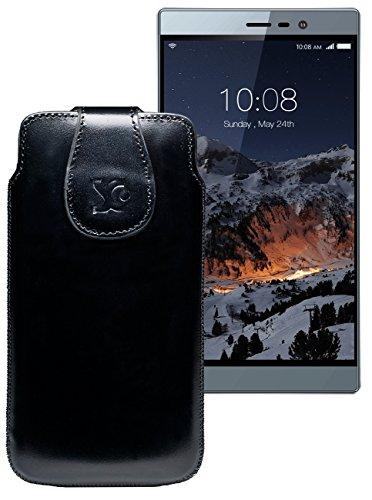 Original Suncase Tasche für Switel eSmart M3 | Leder Etui Handytasche Ledertasche Schutzhülle Hülle Hülle / in schwarz