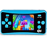 JJFUN Retro Handheld Game Console for Kids, Built-in 182 Classic Games Arcade Entertainment Gaming System, 2.5' LCD Portable FC TV-Out Video Game Player for Children-Blue