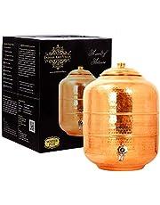 IndianArtVilla Koper Waterpot Tank Dispenser|Opslag Water|Voordeel Yoga Ayurveda|Volume 236 oz