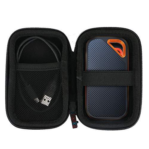 khanka Case Tasche passt für Sandisk Extreme PRO Portable SSD 500GB 1TB 2TB 250GB Externe Festplatte.(Für Extreme Pro, Mit Netztasche)