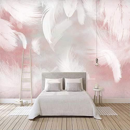 Benutzerdefinierte 3D-Fototapete Moderne abstrakte Federkunst Wandmalerei Wasserdichte Leinwand Wohnzimmer Schlafzimmer Tapeten Wohnkultur