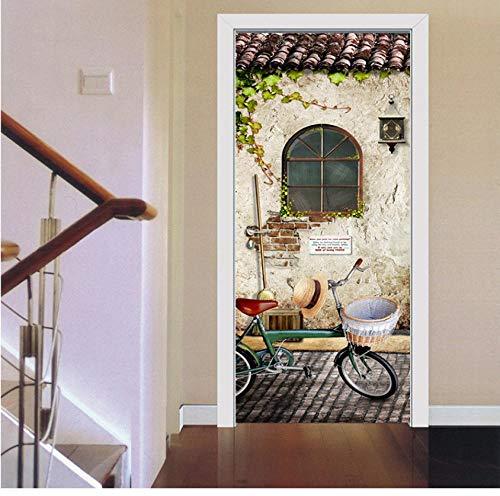 Mooie vensterbank 3D Deur Sticker Home Decoratie Waterdichte Duurzame Milieubescherming zelfklevend 77 * 200cm