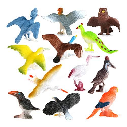 TOYANDONA 1 juego de pájaros modelo de juguete simulado de plástico modelo animal juguete de pájaros artificiales juguete educativo para niños estudiantes