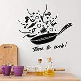 Belleza cocina etiqueta de la pared Art Deco habitación de los niños decoración natural Mural impermeable etiqueta de la pared calcomanía A7 57x67cm