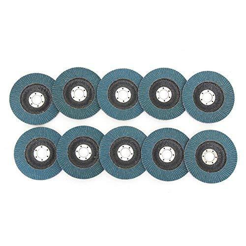 SUCAN 10Pcs 125Mm 40-120 Granos Discos de lija para lijado de metal...