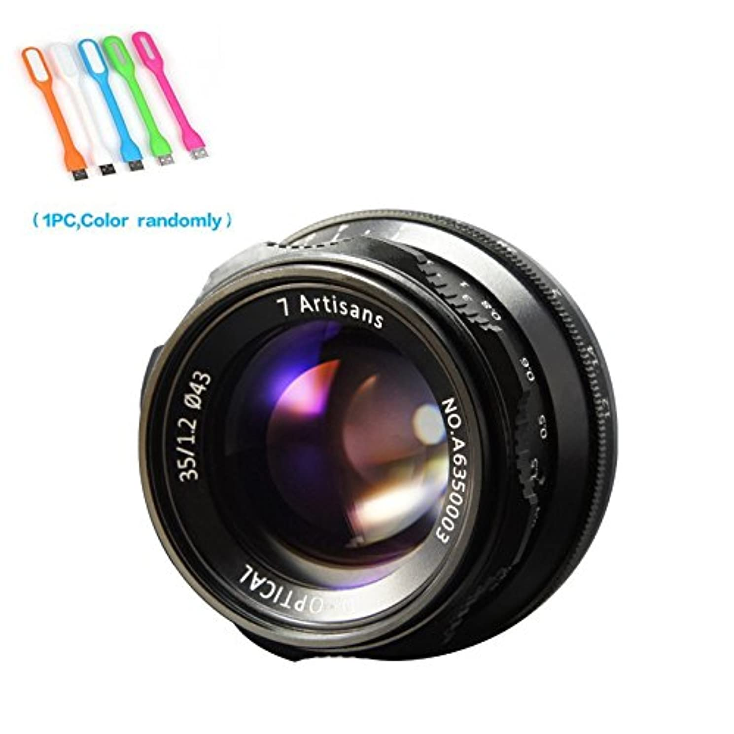 7artisans 35mm F1.2 Large Aperture Prime APS-C Manual Focus Fixed Lens for Sony E Mount Camera A7, A7II, A7R, A7RII, A7S, A7SII, A6500, A6300, A6000, A5100, A5000,NEX-3,NEX-3N,NEX-5,NEX-5T,NEX-5R/6/7