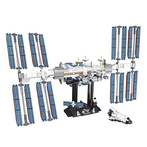 FLYM 876 PCS Estación Espacial Internacional Bloques De Construcción De Juguete Kit Modelo Set, para Niños, Niñas, Niños Y Adultos, Compatibles con Ladrillos De Lego