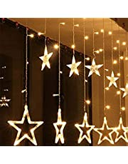 Horme Diwali Light Curtain for Decoration/Decorative Lights for Home/Lights for Decoration/Decoration Items Valentine Gift (Star Lights)