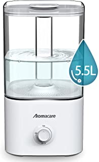 Aromacare 5.5L Cool Mist Humidifier and Essential Oil Diffuser, Top Fill Humidifier for Bedroom, Oil Diffuser & Ultrasonic Large Vaporizer,Modern LED Light, Great for Large Room,Kids Room & Baby Room