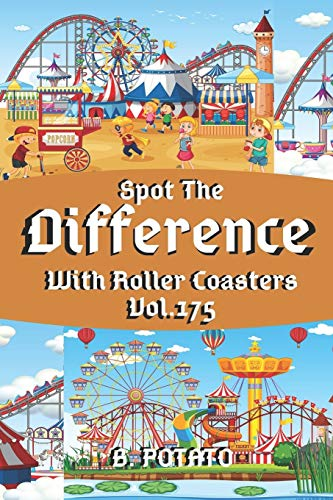 Spot the Difference With Roller Coasters Vol.175: Children's Activities...