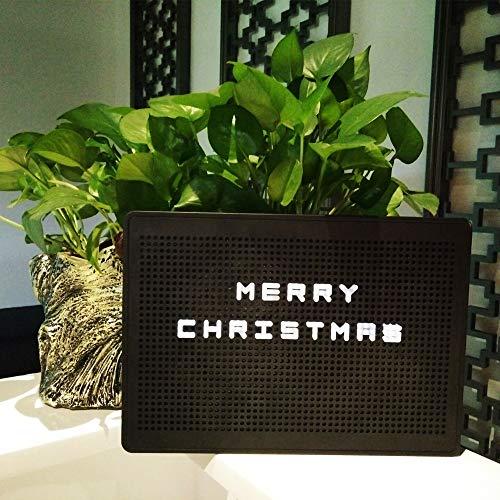 DIY Light Box Avec Combinaison flexible Lettres Lumière Numéro LED Boîte à lumière Night Light Décoration (Black)