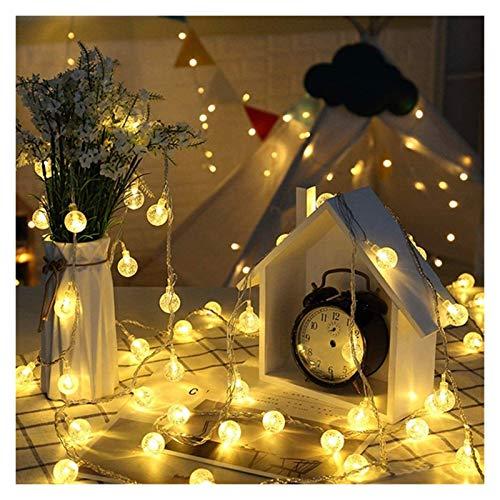 TTW LED SANG String RGB Luces de Navidad 6M 7M LED Diodo Guirnalda Bola Bola String Luces de Navidad para jardín Decoración del césped al Aire Libre (Color : 4)