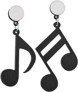 Forbestest Nota musicale Orecchini femminili asimmetrici in acrilico Orecchini da donna in acrilico, Orecchini da donna in...