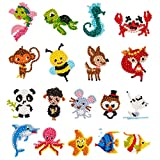 5D DIY 18 PCS Diamond Painting Kits for Kids and Adult Beginners, Stick Paint with Diamonds by Numbers Easy to DIY,Cute Animals, Sea World