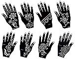 Aktion ! Henna Tattoo Schablone Vorlage 8 Sheet Fleur 8