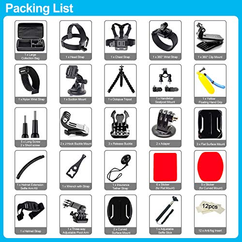 Product Image 6: 61 in 1 Action Camera Accessories Kit for GoPro Hero 9, 8, 7, 6, 5, and 4.
