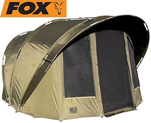 FOX R-Series 2 Man Giant Karpfenzelt 340x330x210cm - Angelzelt zum Karpfenangeln & Wallerangeln, Zelt zum Angeln