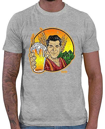 HARIZ – Camiseta para Hombre con Frases de Cerveza y Texto en alemán Craft Beer, Gris, M
