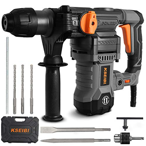 KSEIBI 1-1/4 inch Rotary Hammer Drill, 13 Amp Electric Tools, SDS Plus 4 Functions Reduced...