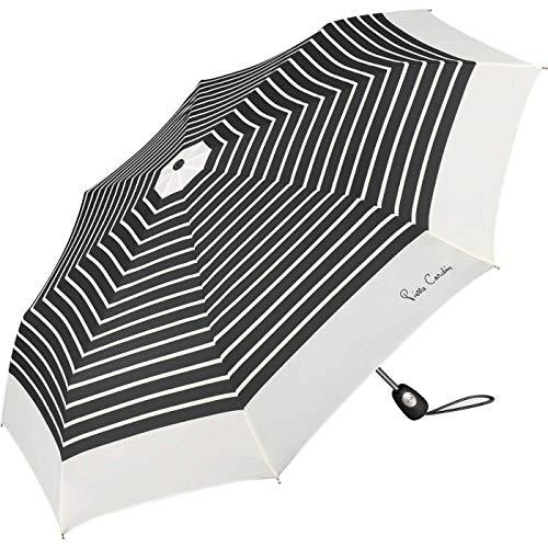 Pierre Cardin Taschenschirm Easymatic Light Black & White White Border