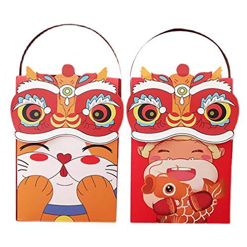 Angoily 2 Pcs Papier Cupcake Verpackung Boxen Glückliche Katze Kuh Cookie Boxen...