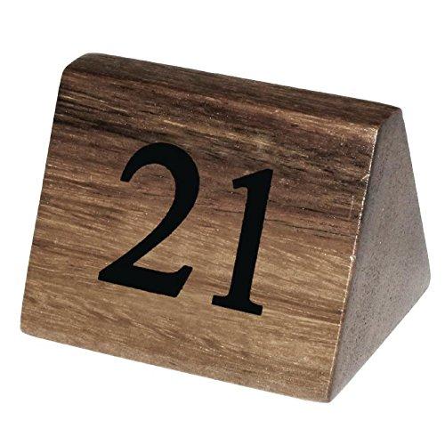 Conjunto de 10 números de mesa de madera del 21–30para restaurante