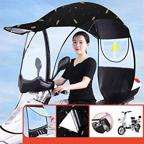Wxnnx Cubierta de lluvia para bicicleta eléctrica parasol,Paraguas universal para motrices, sombrilla, protección contra la lluvia, impermeable, E
