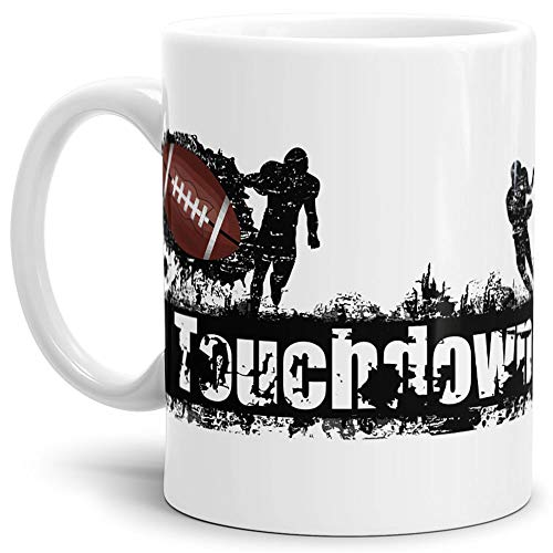 Tassendruck Football-Tasse Touchdown Kaffeetasse/Mug/Cup/- Qualität Made in Germany