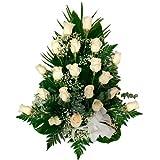 Florclick - Centro 12 rosas blancas - Flores naturales a domicilio en 24h y ENVÍO GRATIS