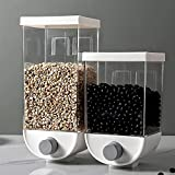 MAODEN 2 Stück Press Müslispender, Wandmontierte Getreideaufbewahrungsbox Trockenfutterbehälter...