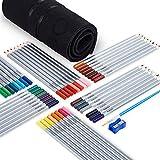 OOKU水彩色鉛筆48色セット 色鉛筆 塗り絵/絵描き/初心者向け色鉛筆 カラーぺん 水溶性彩色鉛筆 塗り絵/絵描きセット ペイントブラシ/収納ケース/鉛筆削り付き