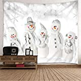 Aimsie - Tapiz de pared con gorro y bufanda y guante (poliéster, 210 x 140 cm), diseño de bosque
