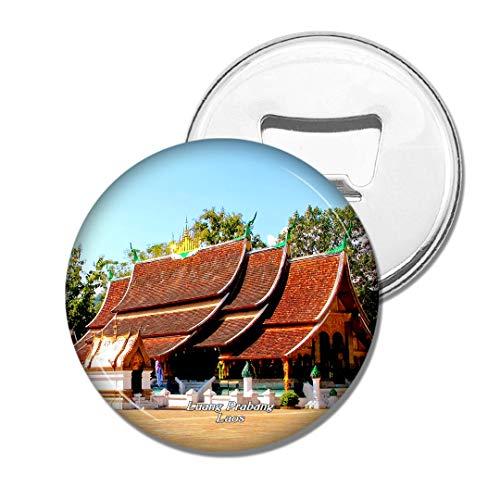 Weekino Goldener Stadttempel Luang Prabang Laos Bier Flaschenöffner Kühlschrank Magnet Metall Souvenir Reise Gift