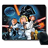 Funy Cute Unique Design Awesome Classic Movie Brave Warrior Black Mouse Pad Customized Rectangle Black Gaming Mousepad