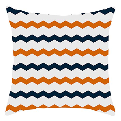 jieGorge Fall Halloween Pumpkin Pillow Case Waist Throw Cushion Cover Sofa Home Decor , Pillow Case for Halloween Day (E)