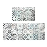 Kitchen Mat Set, Anti Fatigue Set of 2 Waterproof Cushioned Soft Kitchen Rugs Non-Slip Back Comfort...