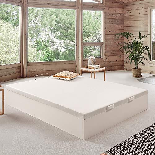 Canapé abatible Wood de Home Medida 150x190 cm Color Blanco