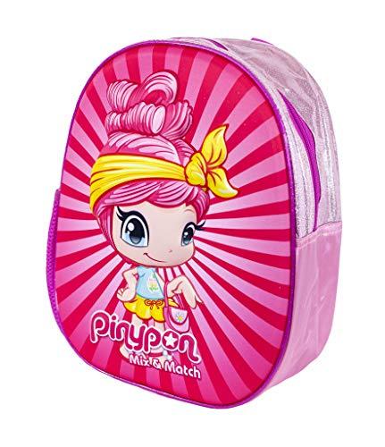 Pinypon - Mochila Escolar con diseño 3 D, para niños y niñas a Partir de 3 años, Color Rosa (Famosa 700016007)